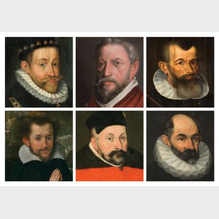 Pocztówka – Manieryzm wrocławski – kolaż portretów