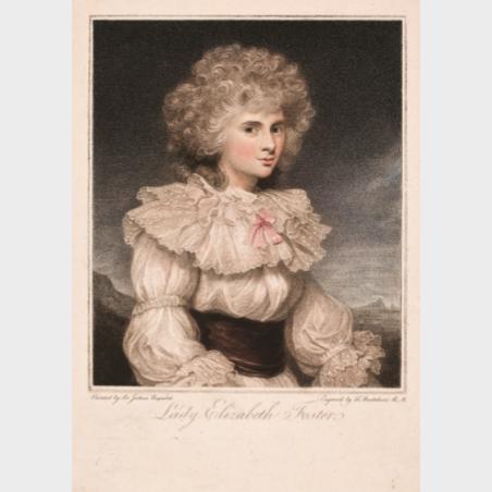 Pocztówka – Francesco Bartolozzi, Lady Elizabeth Foster