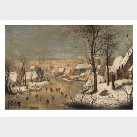 Pocztówka – Pieter Brueghel młodszy, Pejzaż zimowy z...