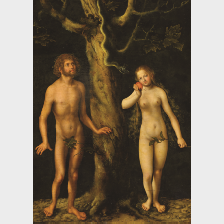 Pocztówka – Adam i Ewa, ModanaCranacha