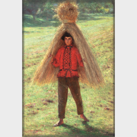 Magnes – Aleksander Gierymski, Chłopiec niosący snop