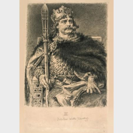 Pocztówka – Jan Matejko, Bolesław Chrobry (z cyklu Poczet...