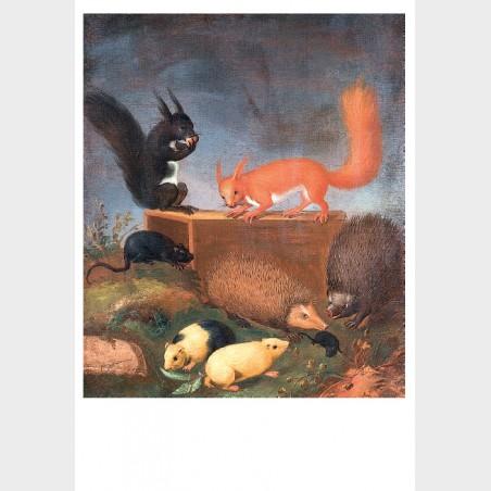 Pocztówka – Ernst Wilhelm Bernhardi, Zwierzęta w pejzażu