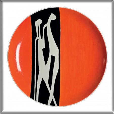 Magnes – Regina Konieczka-Popowska, Talerz dekoracyjny Adam i Ewa