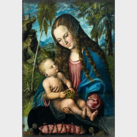 Magnes - Lucas Cranach, Madonna pod jodłami