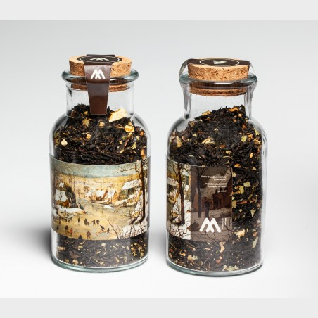 Szklany flakon z herbatą – Pieter Brueghel młodszy, Pejzaż...