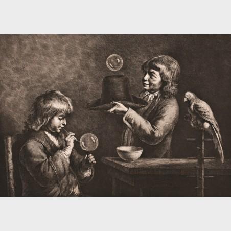 Pocztówka – Jean-Jacques deBoissieu, Bańki mydlane