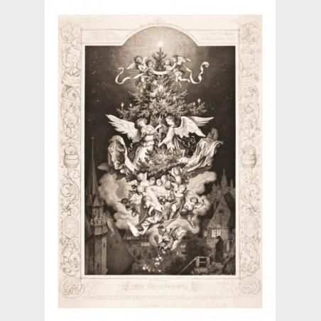 Pocztówka – Adrian Ludwig Richter, Noc Bożego Narodzenia