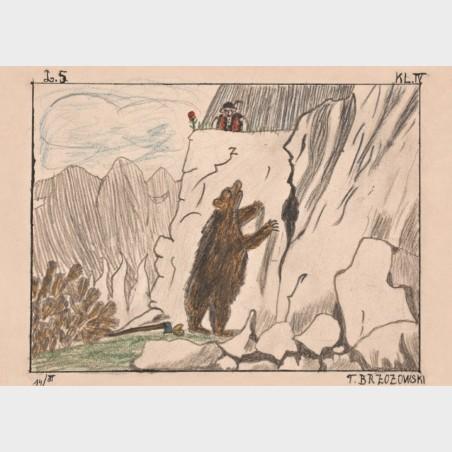 Pocztówka – Tadeusz Brzozowski, Scena z niedźwiedziem