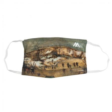 Maseczka – Pieter Brueghel młodszy, Pejzaż zimowy z...