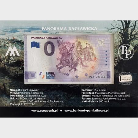 Blister pamiątkowy z 1 banknotem Panorama Racławicka
