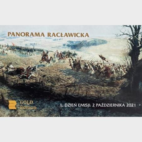 Etui pamiątkowe Gold z 2 banknotami Panorama Racławicka