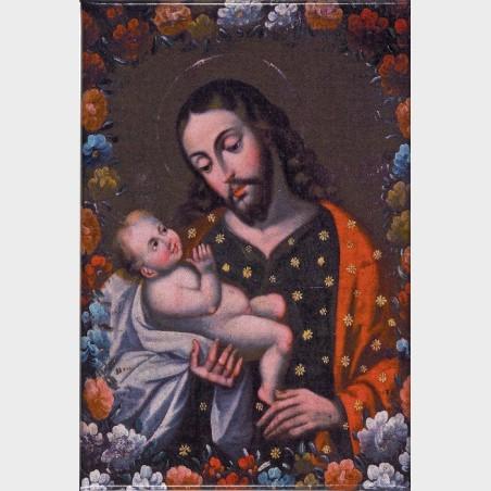 """Magnes """"Święty Józef zDzieciątkiem Jezus"""""""