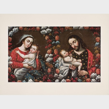 """Reprodukcja """"Matka Boska z Dzieciątkiem, św. Józef z..."""