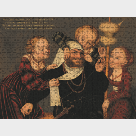 Puzzle – Herkules i Omfale – Lucas Cranach