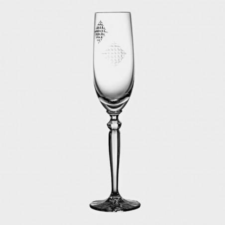 """Kieliszek kryształowy do szampana """"Łatki"""""""
