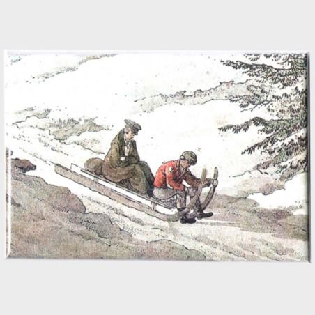 Magnes –  Friedrich August Titte,Przełęcz Okraj – zjazd...